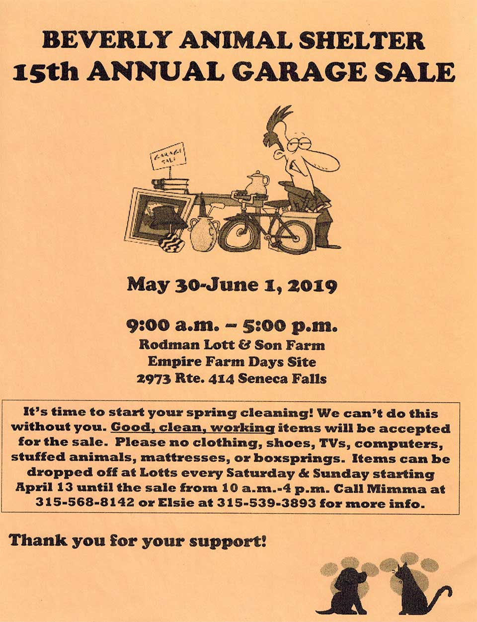 Beverly Animal Shelter Annual Garage Sale